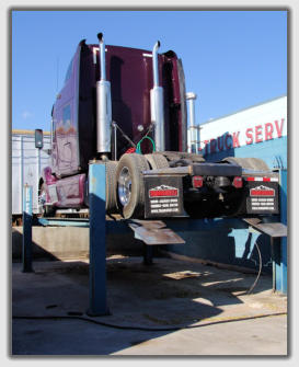 heavy lift for semi truck diesel enginr repair at auto-truck services inc colorado