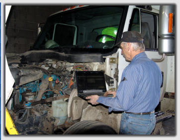diagnosic diesel engine repair for commercial fleet repair at Auto-Truck Services Inc Colorado